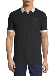 Versace Logo Cotton Polo