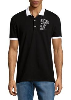 Versace Collection Logo Cuffed Polo Shirt