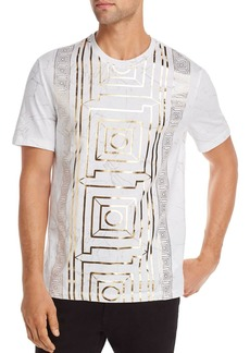 Versace Collection Marble Metallic Graphic Tee