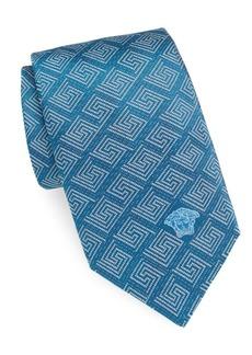 Versace Maze-Patterned Silk Tie