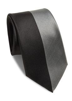 Versace Medallion Ribbed Raw-Silk Tie