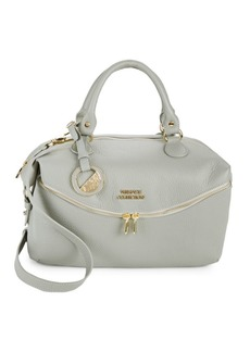 Versace Medium Double-Zip Lined Leather Bag