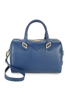 Versace Collection Medium Leather Barrel Bag