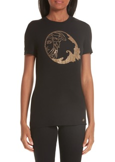 Versace Collection Medusa Crystal Embellished Jersey Tee