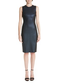 Versace Collection Metallic Shimmer Sheath Dress