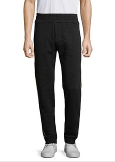 Versace Metallic Striped Sweat Pants
