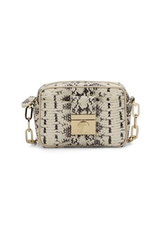 Versace Collection Mini Embossed Leather Crossbody Bag