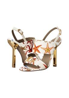 Versace Collection Oro Bizantino Printed Open Toe Heel