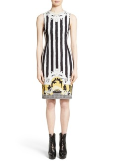 Versace Collection Placed Catwalk Print Silk Dress