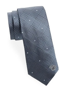 Versace Collection Plaid Silk Tie