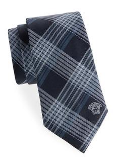 Versace Plaid Silk Tie