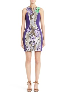 Versace Collection Print Sheath Dress