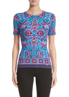 Versace Collection Print Silk Blend Top