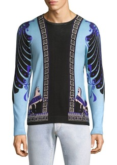 Versace Printed Crewneck Sweater