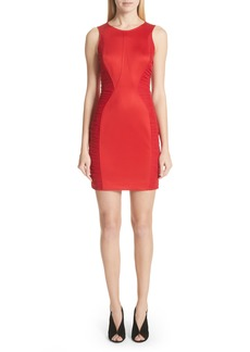 Versace Collection Ruched Piqué Sheath Dress
