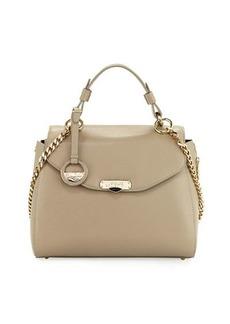 Versace Collection Saffiano Leather Satchel Bag