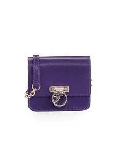 Versace Collection Saffiano Leather Small Crossbody Bag