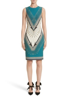 Versace Collection Scarf Print Dress