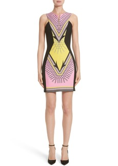 Versace Collection Scarf Print Stretch Cady Dress