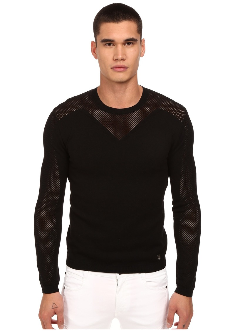 Versace Collection See-Thru Paneled Sweater