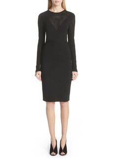 Versace Collection Sheer Detail Knit Dress