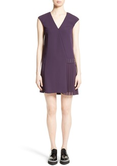 Versace Collection Side Pleat Dress