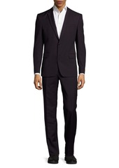 Versace Collection Single-Breasted Chalk Striped Wool Jacket
