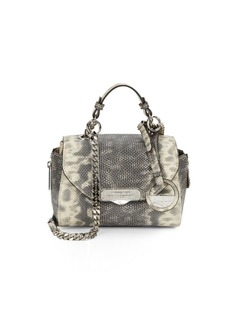 Versace Collection Snake-Embossed Leather Mini Satchel