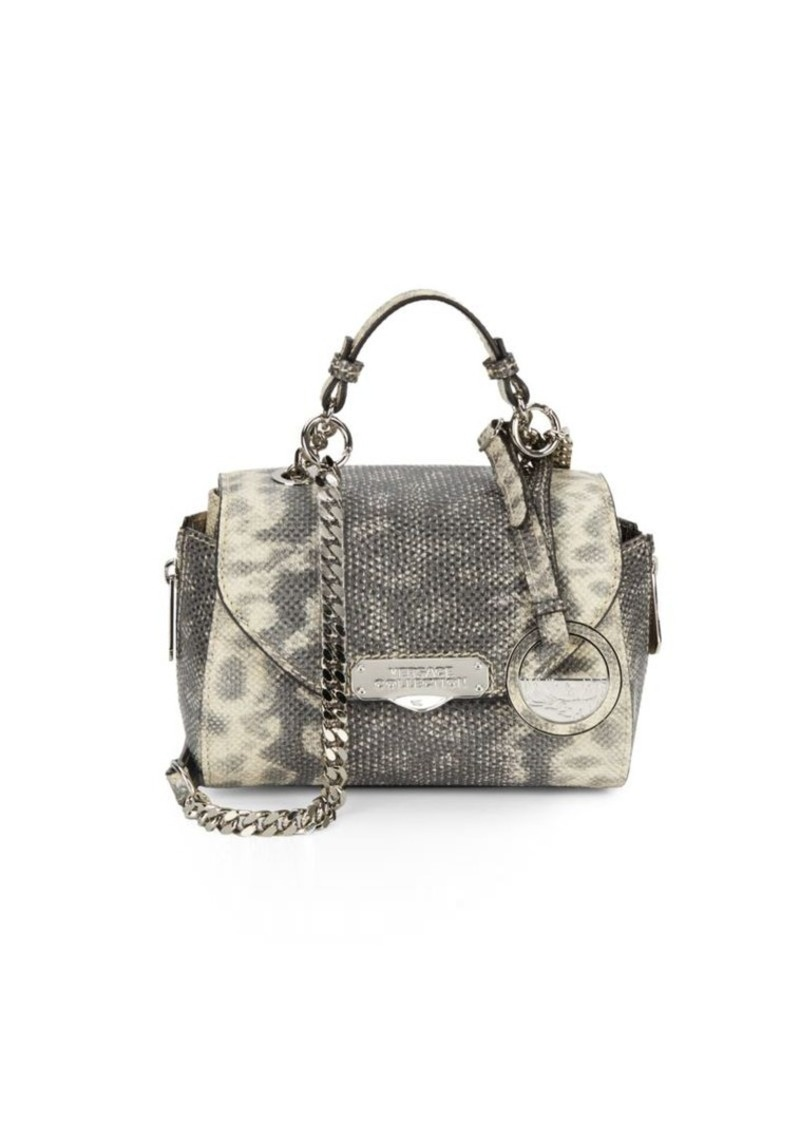 a5485a45f535 SALE! Versace Versace Collection Snake-Embossed Leather Mini Satchel