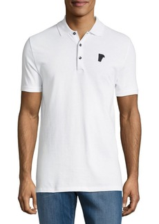 Versace Collection Solid Cotton Polo