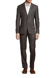 Versace Solid Woolen Suit
