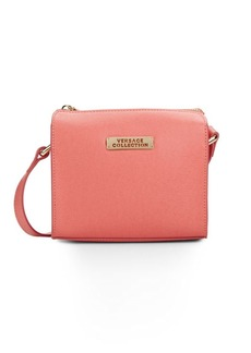 Versace Collection Square Leather Crossbody Bag