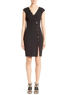 Versace Collection Staple Detail Sheath Dress