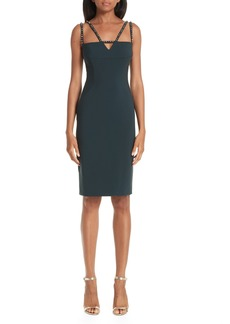Versace Collection Strappy Studded Sheath Dress