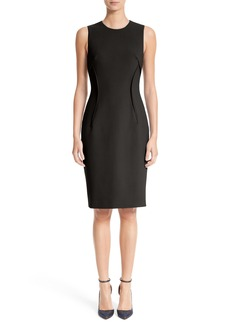 Versace Collection Stretch Cady Sheath Dress
