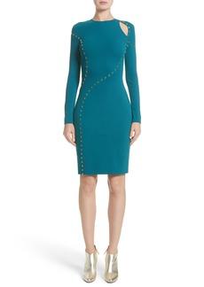 Versace Collection Studded Cutout Dress