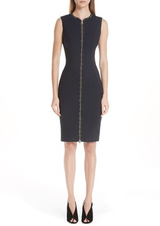 Versace Collection Studded Zip Front Dress
