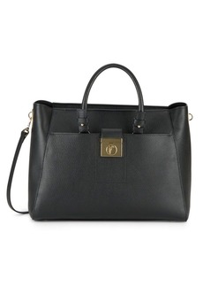 Versace Collection Textured Leather Satchel