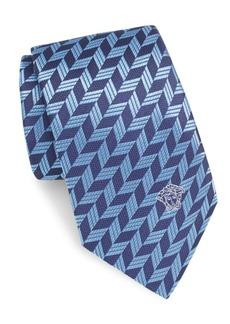 Versace Textured Medusa Silk Tie