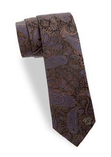 Versace Tonal Paisley Silk Tie