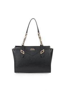 Versace Top Zip Leather Tote