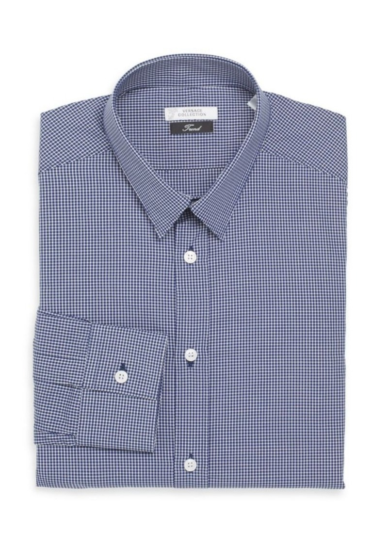 Versace Collection Trim-Fit Checked Cotton Dress Shirt