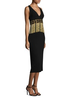 Versace V-Neck Cocktail Dress