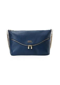 Versace Collection Vitello Leather Shoulder Bag