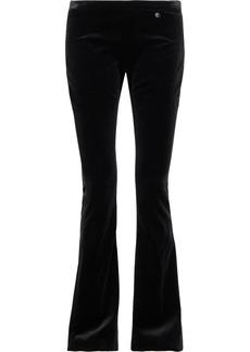 Versace Collection Woman Cotton-velvet Bootcut Pants Black