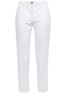 Versace Collection Woman Cropped Cady Slim-leg Pants White