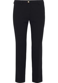 Versace Collection Woman Cropped Crepe Slim-leg Pants Black