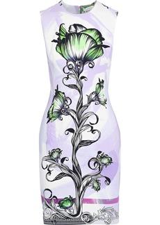 Versace Collection Woman Floral-print Cady Mini Dress Lavender