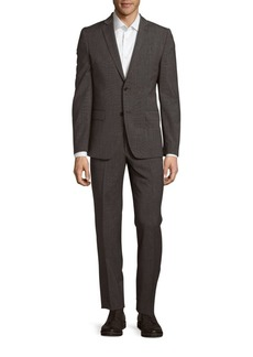 Versace Collection Wool-Blend Textured Suit