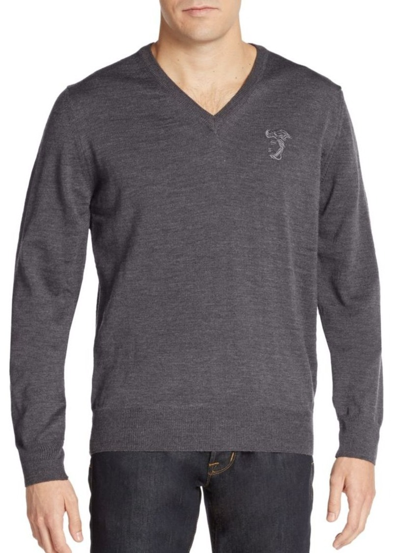 Versace Collection Wool V-Neck Sweater
